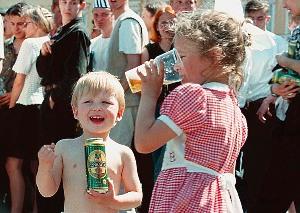 Детский алкоголизм в России
